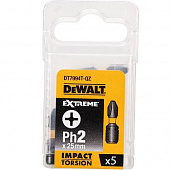DeWALT Бита ударная Phillips Impact Torsion Extreme 1/4 PH2 5шт (DT7994T)